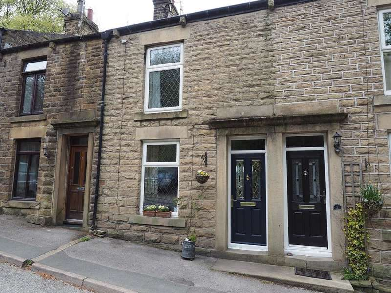 2 Bedrooms Terraced House for sale in Oven Hill, Birch Vale, High Peak, Derbyshire, SK22 1BY