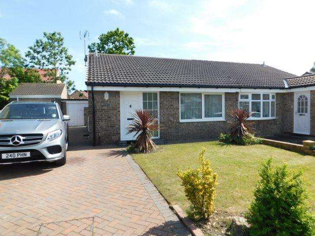2 Bedrooms Semi Detached Bungalow for sale in OAKFIELD CRESCENT, BOWBURN, DURHAM CITY : VILLAGES EAST OF