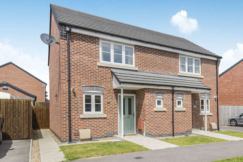 2 Bedrooms Semi Detached House for sale in Kinross Way, Hinckley, LE10