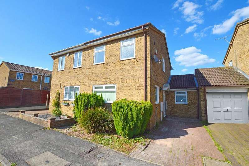 2 Bedrooms Semi Detached House for sale in Warton Green, Wigmore, Luton, LU2 9TX