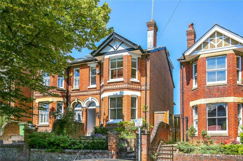 4 Bedrooms Semi Detached House for sale in Stockbridge Road, Winchester, Hampshire, SO22