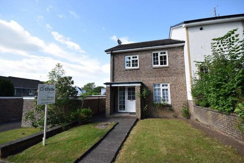3 Bedrooms End Of Terrace House for sale in Woodyett Park , Clarkston , Glasgow , G76 8SJ