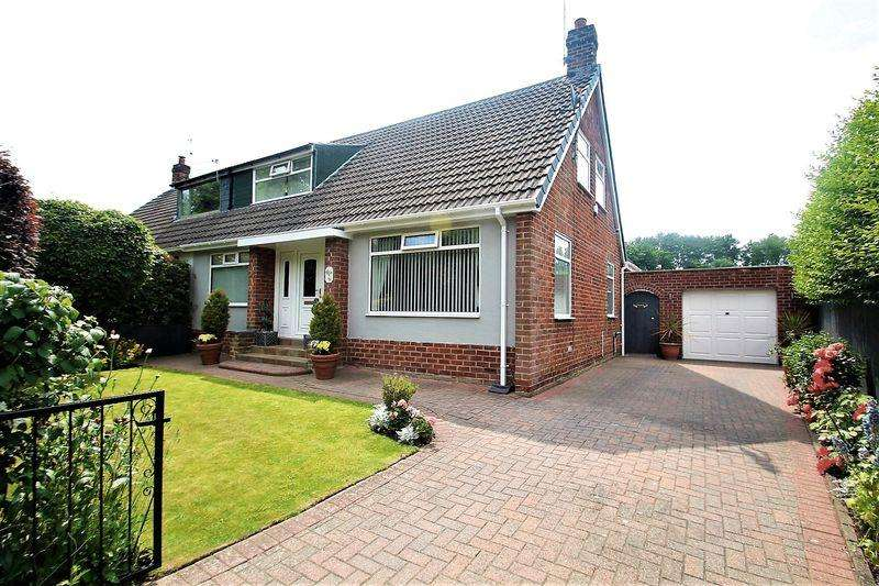 4 Bedrooms Semi Detached Bungalow for sale in Hartburn Avenue, Stockton-On-Tees