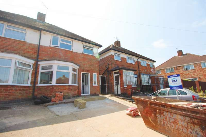 3 Bedrooms Semi Detached House for sale in Bryngarth Crescent, Leicester, LE5