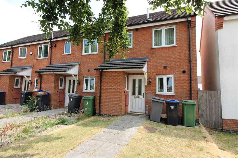 2 Bedrooms End Of Terrace House for sale in Drage Close, Lutterworth, Leicestershire