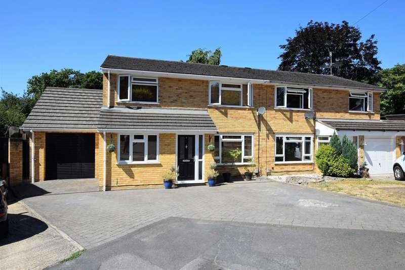 4 Bedrooms Semi Detached House for sale in Randell Close, Hawley, GU17