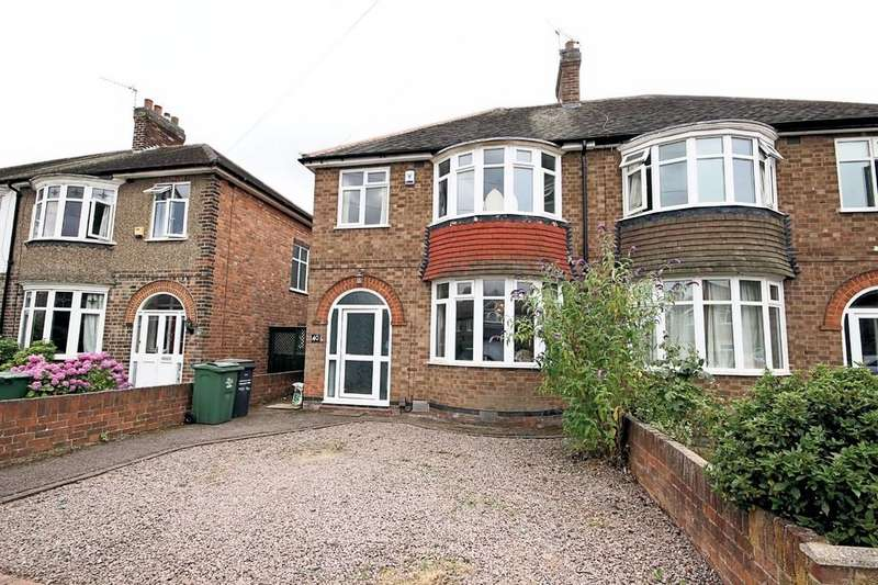 3 Bedrooms Semi Detached House for sale in Mountfields Drive, Loughborough