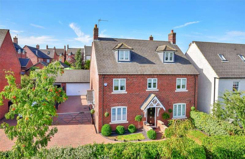 5 Bedrooms Detached House for sale in Mantelcroft Drive, Burton-on-the-Wolds, Loughborough