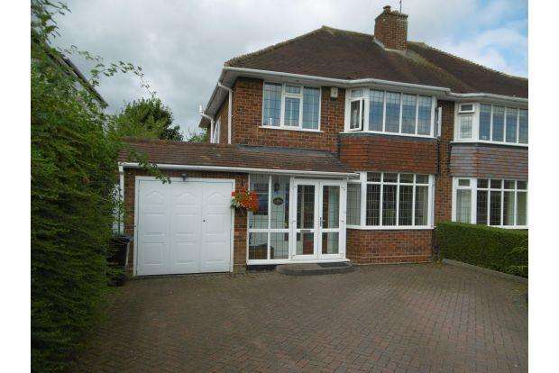 3 Bedrooms House for sale in RUSHALL MANOR ROAD, WALSALL