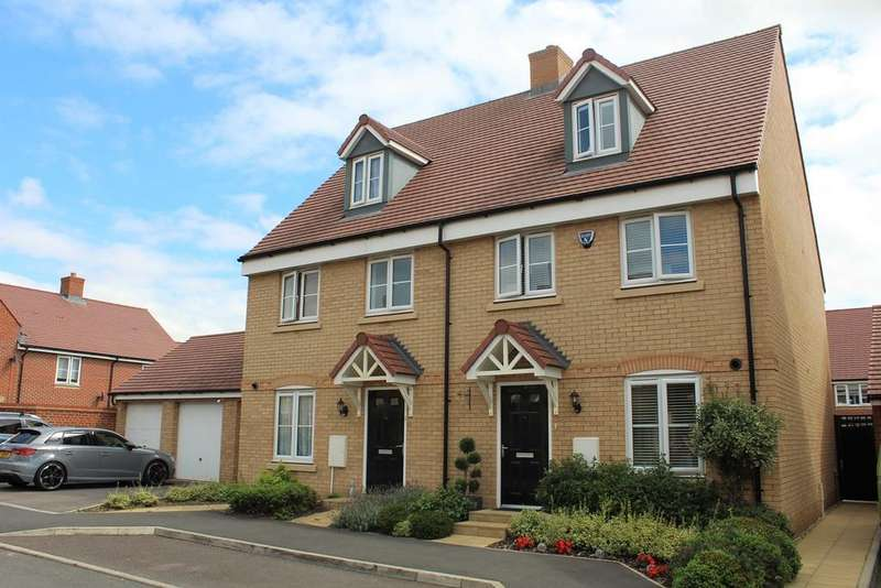 4 Bedrooms Semi Detached House for sale in Hawking Drive, Biggleswade, SG18