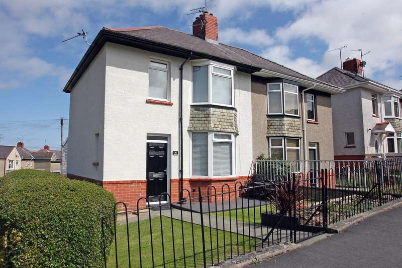 3 Bedrooms Semi Detached House for sale in Glynne Road, Bangor, North Wales