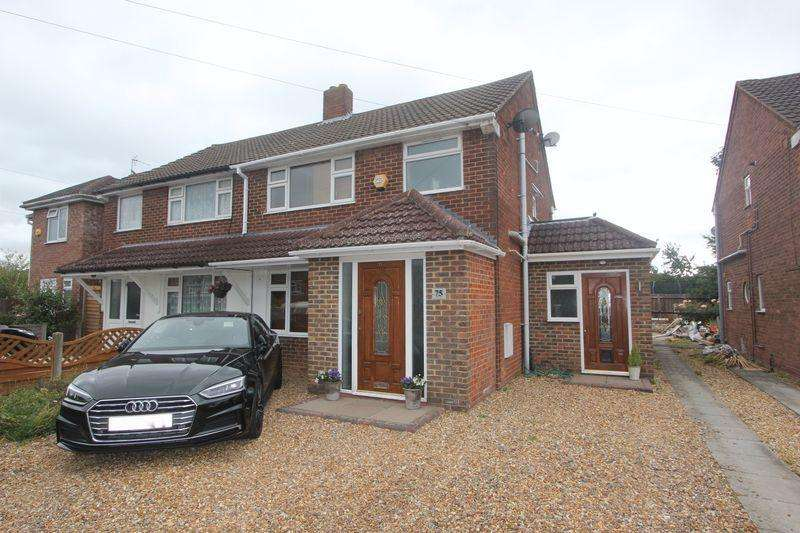 3 Bedrooms Semi Detached House for sale in Elm Avenue, Caddington