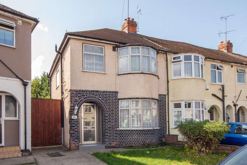 2 Bedrooms End Of Terrace House for sale in Shelley Road, Luton