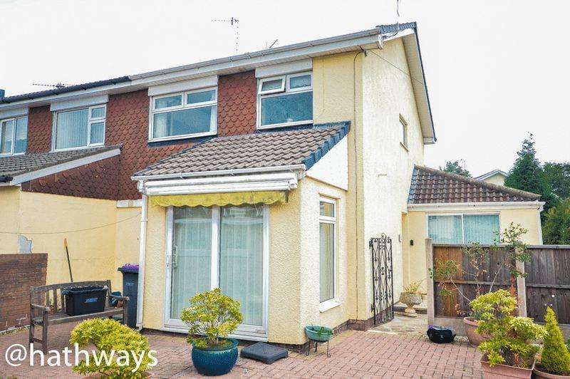 3 Bedrooms Semi Detached House for sale in Pettingale Road, Cwmbran