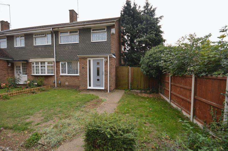 3 Bedrooms End Of Terrace House for sale in Loftus Close, Luton