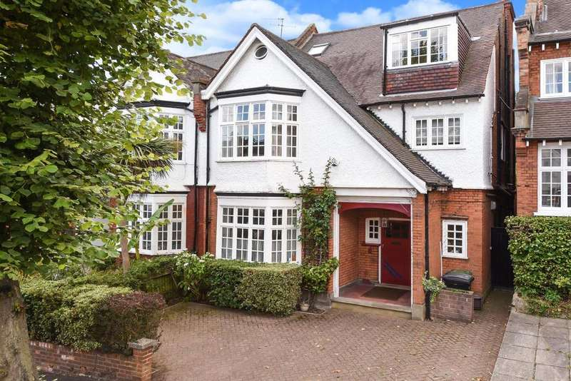 6 Bedrooms Semi Detached House for sale in Crediton Hill, West Hampstead