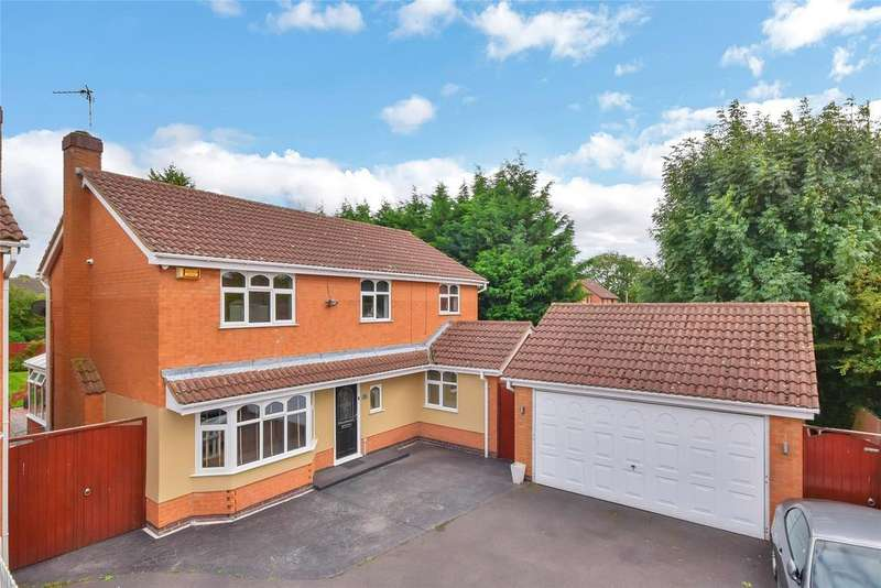 4 Bedrooms Detached House for sale in Swallow Drive, Syston, Leicester