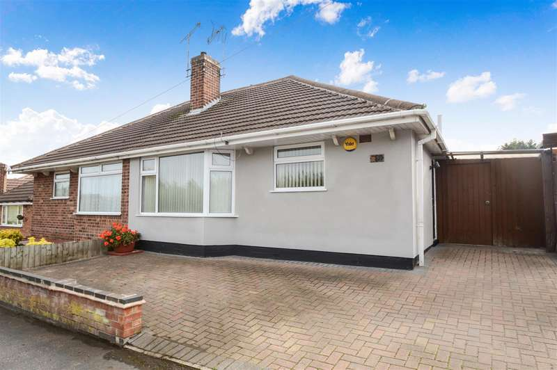 2 Bedrooms Semi Detached Bungalow for sale in Wayside Drive, Thurmaston, Leicester