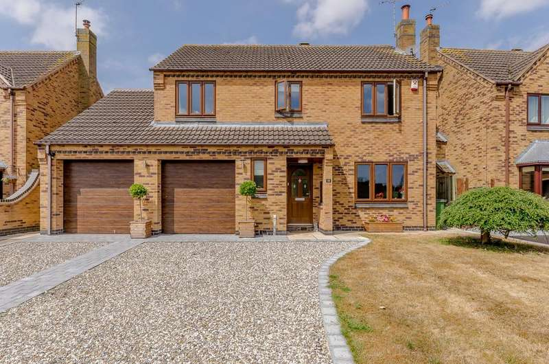 4 Bedrooms Detached House for sale in Tyers Close, Leicestershire, LE9