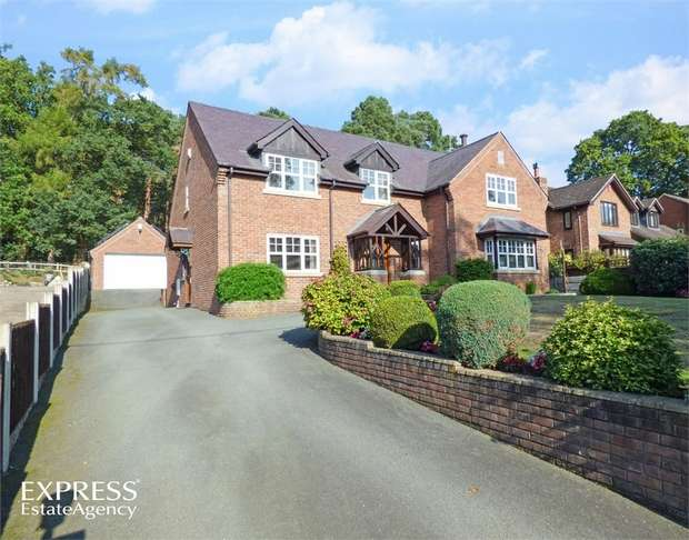 4 Bedrooms Detached House for sale in Knockin Heath, Knockin Heath, Oswestry, Shropshire