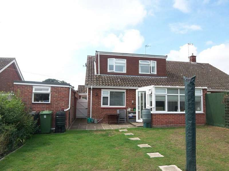 4 Bedrooms Semi Detached Bungalow for sale in Dukes Drive, Halesworth