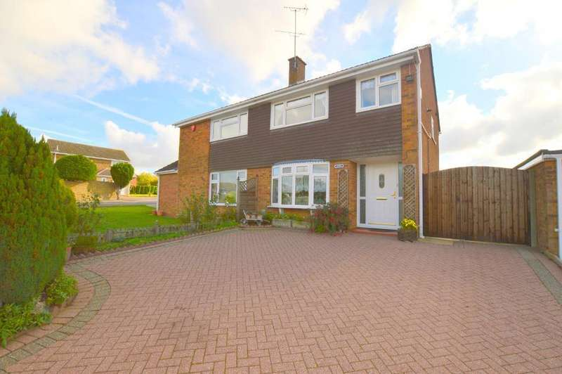 3 Bedrooms Semi Detached House for sale in Turnpike Drive, Warden Hills, Luton, LU3 3RD