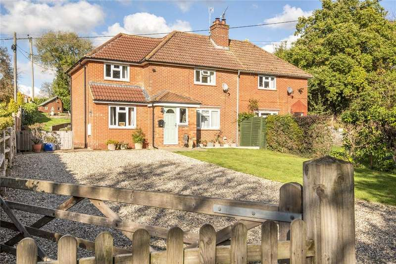 3 Bedrooms Semi Detached House for sale in Dummer Road, Axford, Basingstoke, Hampshire, RG25