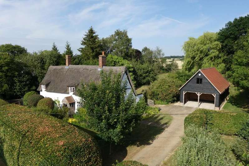4 Bedrooms Cottage House for sale in Lawshall Road, Hawstead