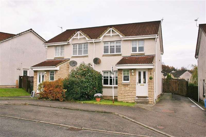 3 Bedrooms Semi Detached House for sale in Woodlea Gardens, Bonnybridge, Stirlingshire