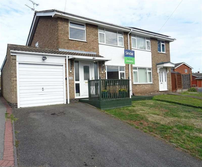 3 Bedrooms Semi Detached House for sale in Swallow Dale, Thringstone, Leicestershire