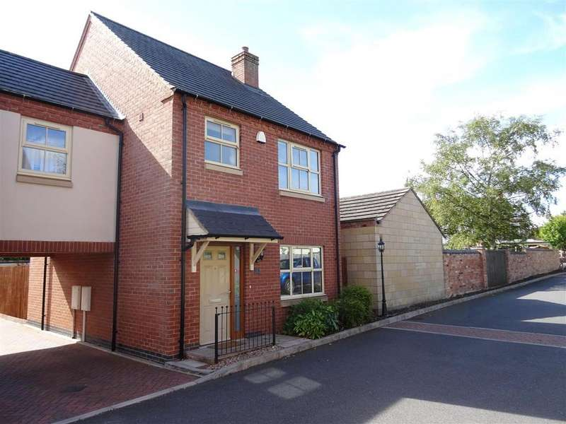 3 Bedrooms Link Detached House for sale in Bakers Field Close, Ibstock, Leicestershire