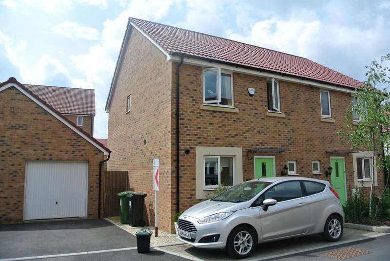 3 Bedrooms Semi Detached House for sale in Cowslip Crescent, Lyde Green, Bristol, BS16 7GL