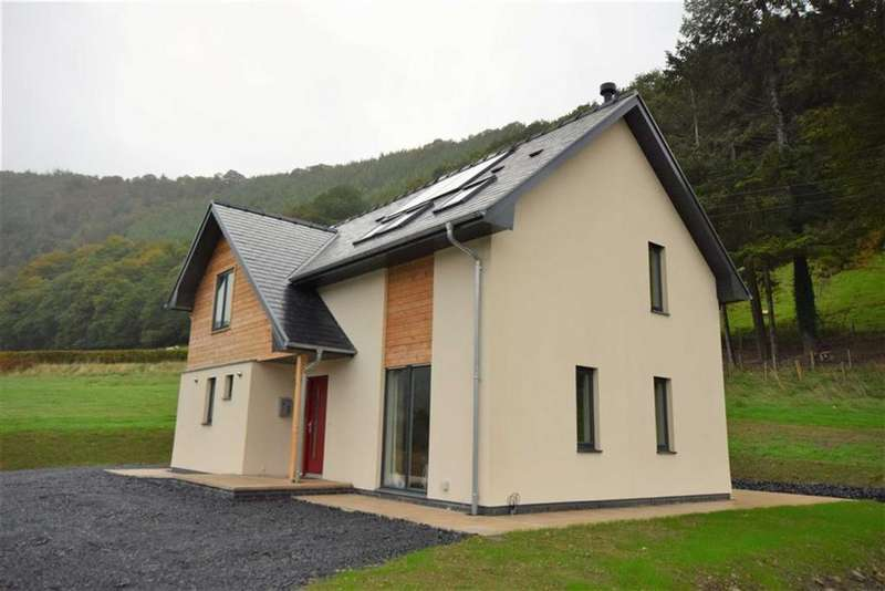 4 Bedrooms Detached House for sale in Plot 1, Goledd Ddyfi With 7 Acres, Commins Coch, Machynlleth, Powys, SY20