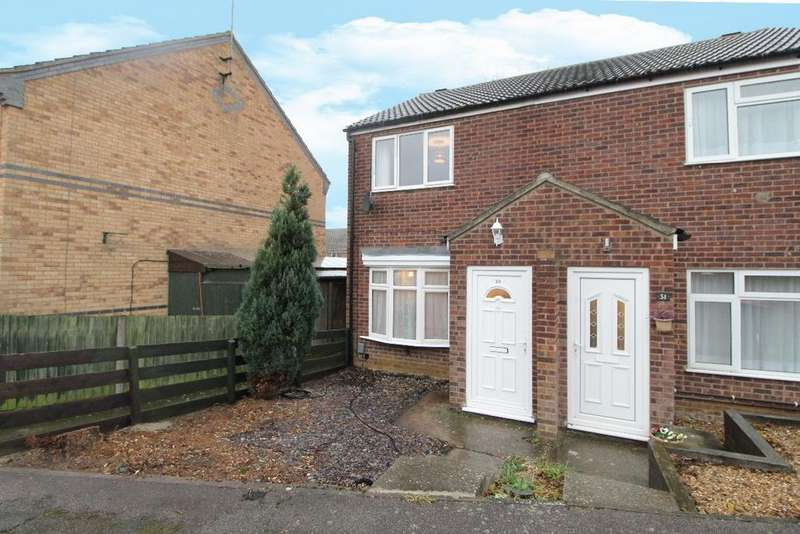 2 Bedrooms Semi Detached House for sale in Fetlock Close, Clapham, Bedfordshire, MK42