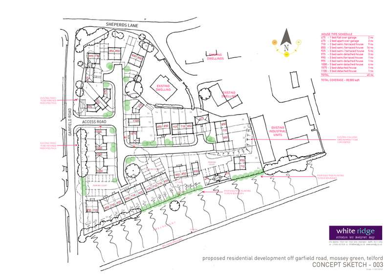 Land Commercial for sale in Garfield Road, MOSSEY GREEN, TELFORD TF1