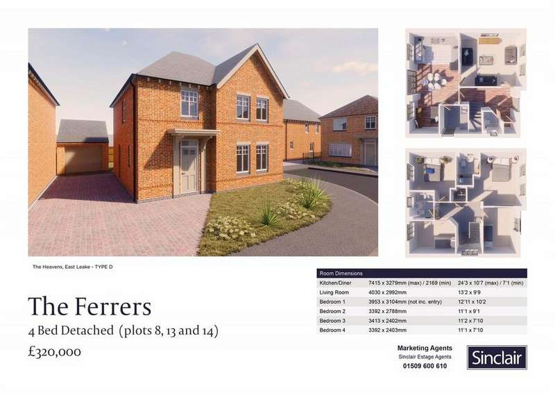 4 Bedrooms Detached House for sale in The Heavens - Hardy Way, East Leake, Leicestershire