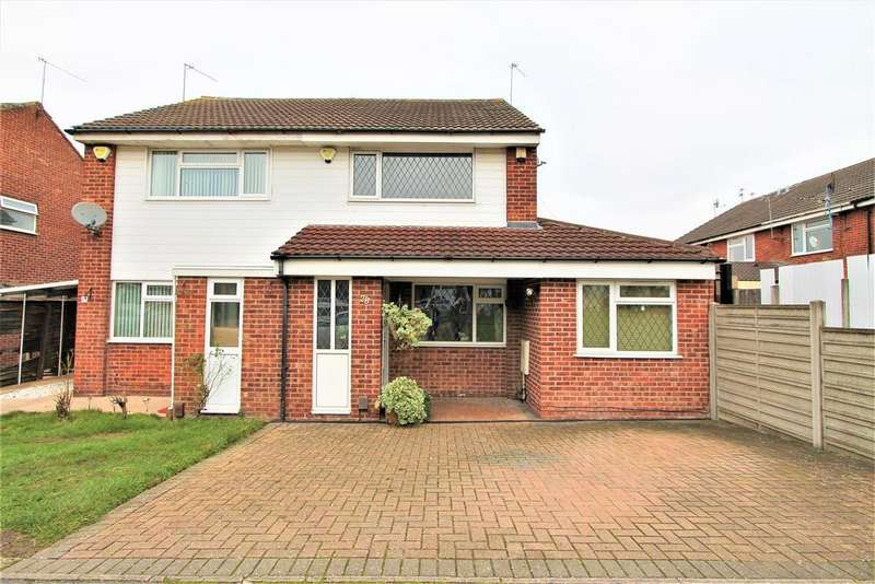 3 Bedrooms Semi Detached House for sale in Huggett Close, Leicester