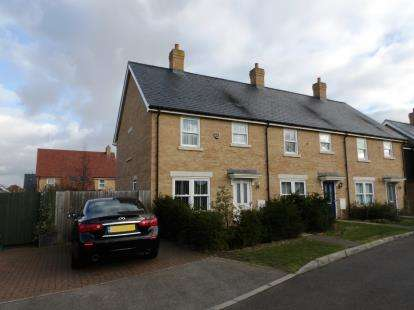 3 Bedrooms End Of Terrace House for sale in Maunder Avenue, Biggleswade, Bedfordshire