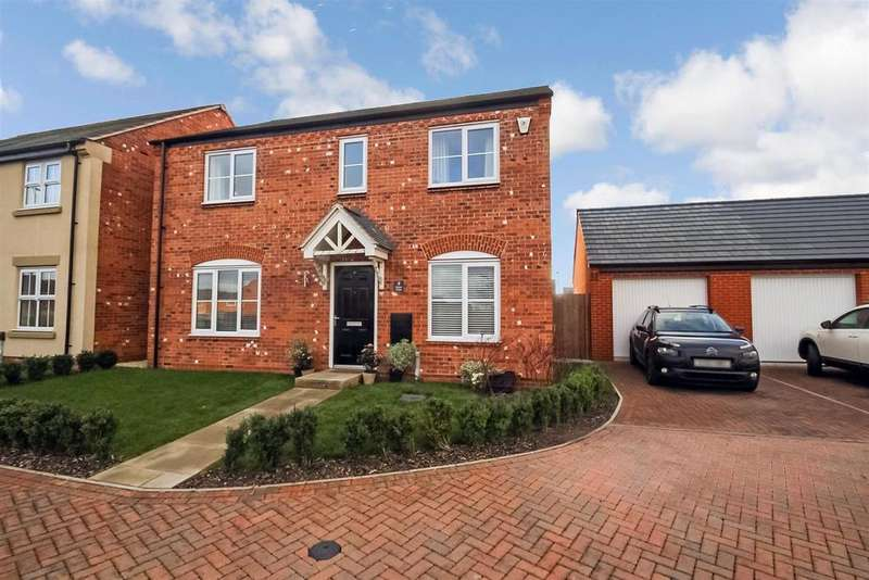 4 Bedrooms Detached House for sale in Exeter Close, Syston, Leicester