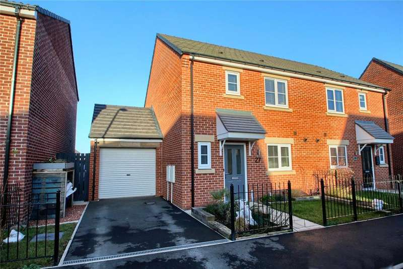 3 Bedrooms Semi Detached House for sale in Sculptor Crescent, Queensgate