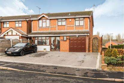 4 Bedrooms Detached House for sale in Sovereign Drive, Dudley, West Midlands
