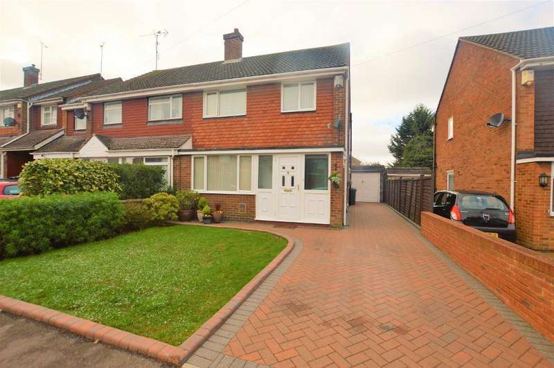 3 Bedrooms Semi Detached House for sale in Torquay Drive, Luton, Bedfordshire, LU4 9LL