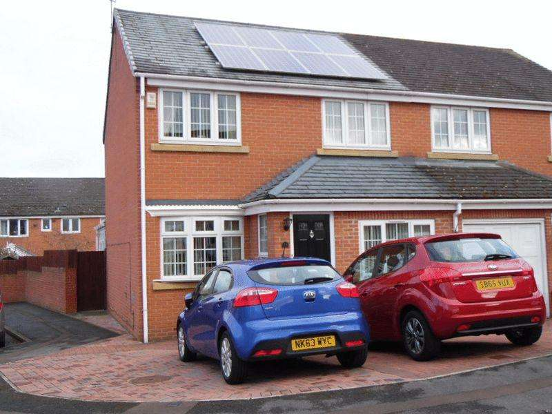 3 Bedrooms Semi Detached House for sale in Merevale Close, Washington
