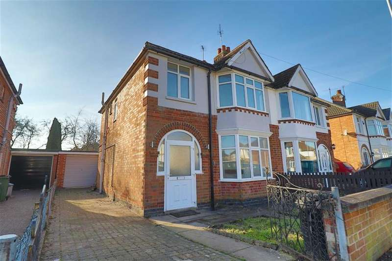 3 Bedrooms Semi Detached House for sale in Burleigh Avenue, Wigston, Leicester, Leicestershire