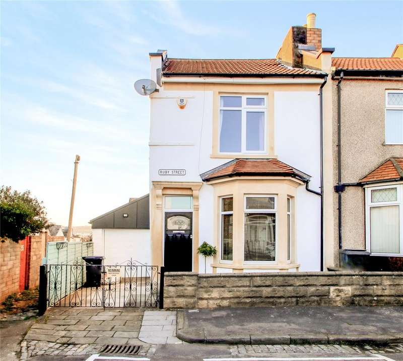3 Bedrooms End Of Terrace House for sale in Ruby Street, The Chessels, BRISTOL, BS3