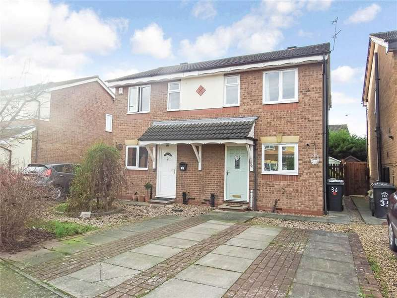2 Bedrooms Semi Detached House for sale in Manston Close, Leicester, LE4
