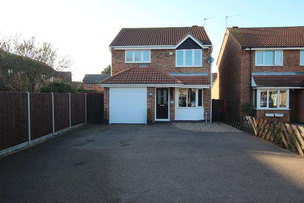 3 Bedrooms Detached House for sale in Heron Way, Syston, Leicester, LE7