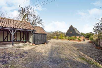 4 Bedrooms Barn Conversion Character Property for sale in Stradbroke Town Farm, Westhall, Halesworth