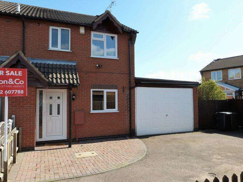 3 Bedrooms Semi Detached House for sale in Paddock View, Syston