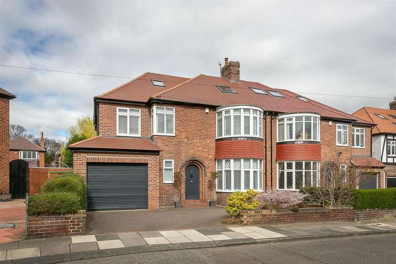 5 Bedrooms Semi Detached House for sale in Fernville Road, Gosforth, Newcastle upon Tyne